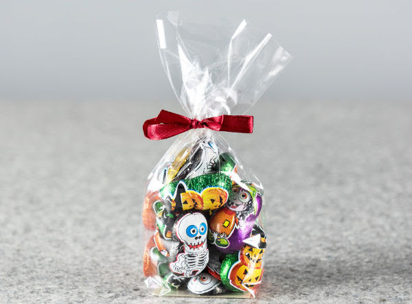 Display bag with Halloween sweets