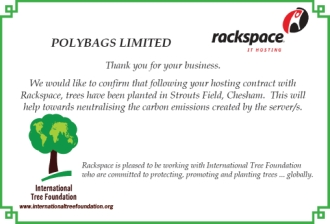 Environmentally friendly certificate