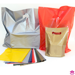 Classic coloured carrier bags