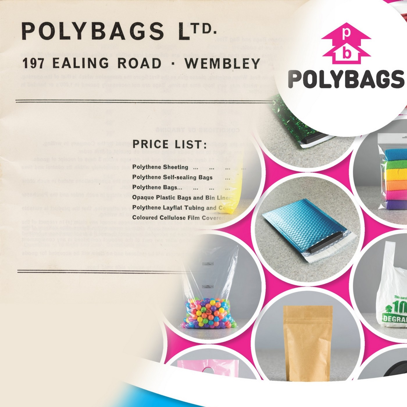 Polybags old/new catalogue