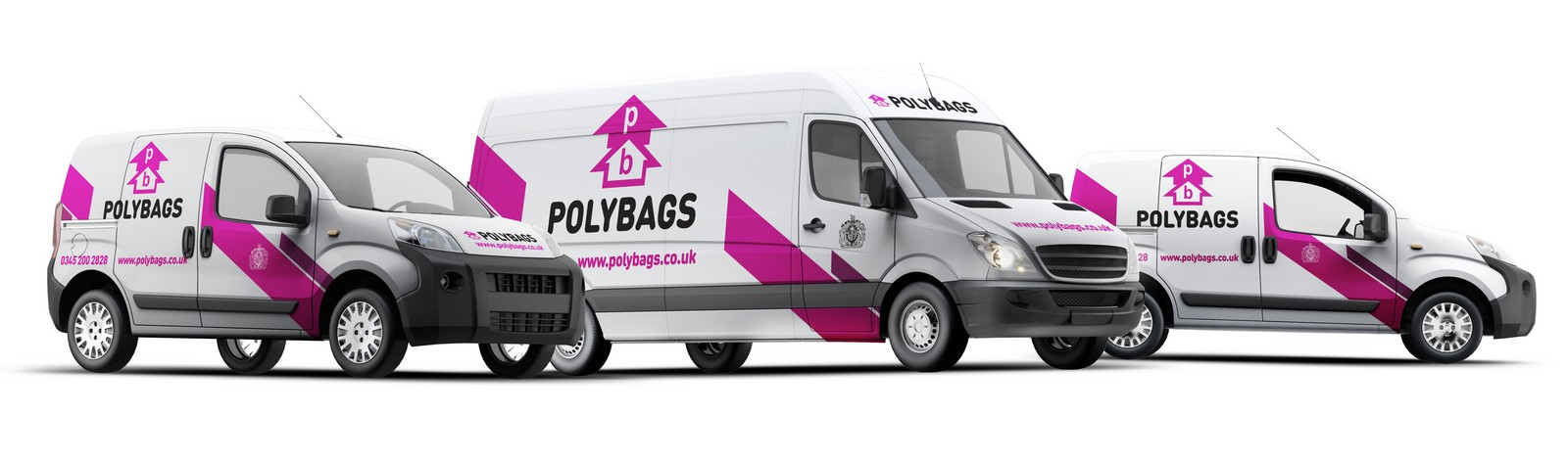 Polybags' delivery vans