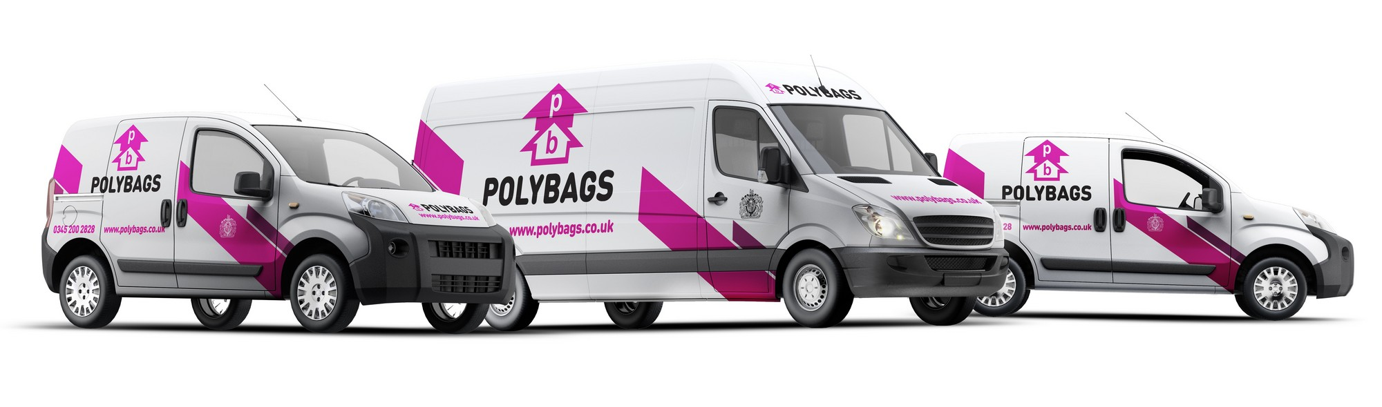 Polybags' delivey vans