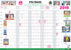 Polybags' free 2019 Wallplanner