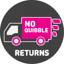 Polybags' no-quibbles guarantee icon