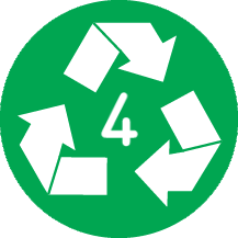 Recyclable 4 LDPE