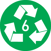 Recyclable 6 PS