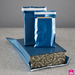 Blue Opaque Mail Order Goods Bags