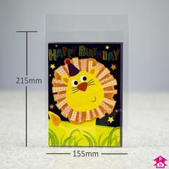 Greetings card bag 155mm x 215mm 25mm lip greetings card bag 155mm x 215mm 25mm lip m4hsunfo
