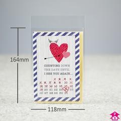 Budget greeting card bags greetings card bag 118mm x 164mm 25mm lip m4hsunfo